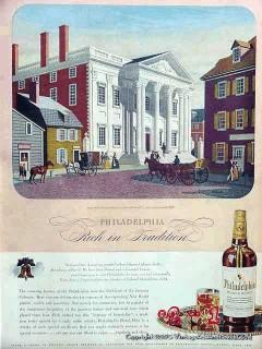 philadelphia whiskey 1944 girard bank tradition vintage ad
