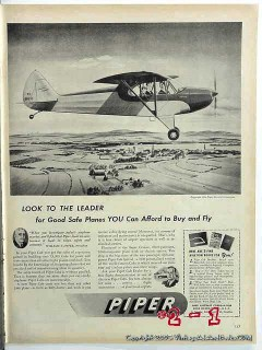 piper airplane 1946 william t piper safe airplane vintage ad