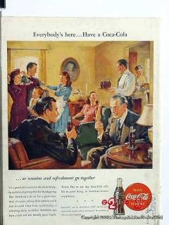 coca cola 1946 coke thanksgiving holiday coke vintage ad