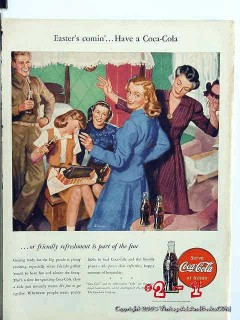 coca cola 1946 art james schucker easter coke vintage ad