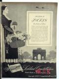 lockheed constellation 1946 paris airplane flight vintage ad