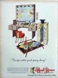 paul jones whiskey 1946 actors makeup desk vintage ad