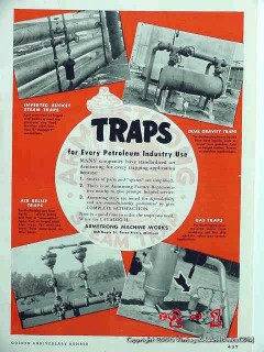 Armstrong Machine Works 1951 Vintage Ad Oil Petroleum Industry Traps