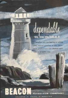 Beacon Petroleum Company 1951 Vintage Ad Oil LPG Gasoline Dependable
