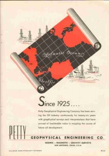 Petty Geophysical Engineering Company 1951 Vintage Ad Oil Gas Surveys