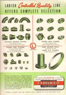 Ladish Company 1951 Vintage Ad Oil Gas Pipeline Fittings Necks Flanges