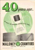 Maloney-Crawford Tank Mfg Company 1951 Vintage Ad Oil Original Bolted