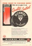 Wickwire Spencer Steel Company 1951 Vintage Ad Oil Ingot Rope Quality