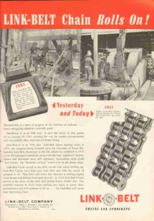 Link-Belt Company 1951 Vintage Ad Oil Field Drilling Chains Sour Lake