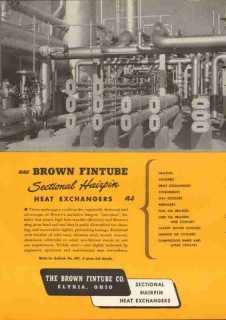 Brown Fintube Company 1951 Vintage Ad Oil Gas Refinery Heat Exchangers
