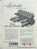 Clark Brothers Company 1951 Vintage Ad Oil Gas Right Angle Compressors