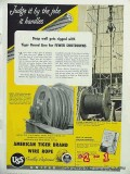 United States Steel 1951 Vintage Ad Oil Deep Well Wire Rope Shutdowns
