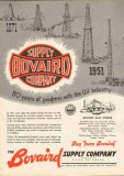 Bovaird Supply Company 1951 Vintage Ad Oil Industry 80 Years Progress