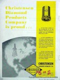 Christensen Diamond Products Company 1951 Vintage Ad Oil Core Bit