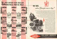 Lucey Export Corp 1951 Vintage Ad Oil Field Rotary Rig Drilling