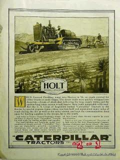 caterpillar tractors 1918 holt peoria stockton vintage ad