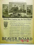 beaver board 1918 old home construction walls ceiling vintage ad