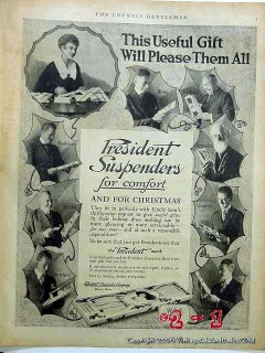 president suspenders company 1918 mens clothing vintage ad