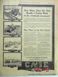 j i case thrashing machine company 1918 kerosene tractor vintage ad
