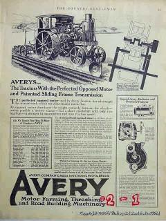 avery company 1918 motor thresher farm tractor vintage ad