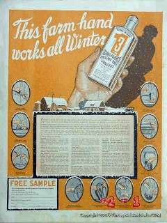 Three-In-One Oil Company 1918 Vintage Ad Lubrication Farm Hand Winter