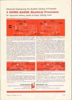 Howe-Baker Engineers Inc 1959 Vintage Ad Oil Electrical Processes