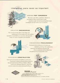 Procon Inc 1959 Vintage Ad Oil Gas Refinery Engineering Construction