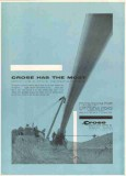 M J Crose Mfg Company 1959 Vintage Ad Pipeline Construction Equipment