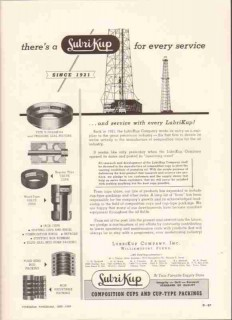 LubriKup Company 1959 Vintage Ad Oil Well Lubrication Drilling Service