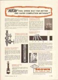 Brown Oil Tools Inc 1959 Vintage Ad Petroleum Gas Well Drilling