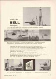 bell helicopter 1959 offshore survey oil well rig drilling vintage ad