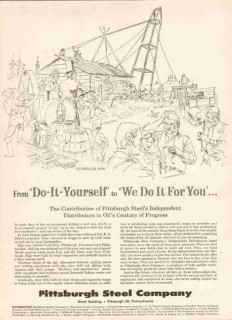 Pittsburgh Steel Company 1959 Vintage Ad Oil Drilling Do-It-Yourself