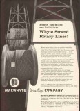 MacWhyte Wire Rope Company 1959 Vintage Ad Oil Drilling Rotary Lines