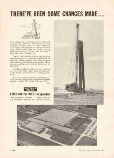 Bucyrus-Erie Company 1959 Vintage Ad Oil Drilling Derrick Changes Made