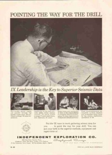 Independent Exploration Company 1959 Vintage Ad Oil Gas Seismic Survey