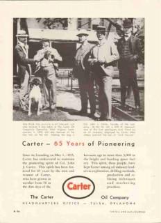 Carter Oil Company 1959 Vintage Ad WV Petroleum Pioneering 65 Years