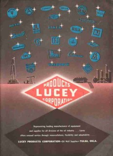 Lucey Products Corp 1959 Vintage Ad Oil Field Tools Equipment Supplies