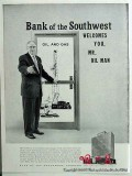 bank of the southwest 1959 gas oil houston harold vance vintage ad
