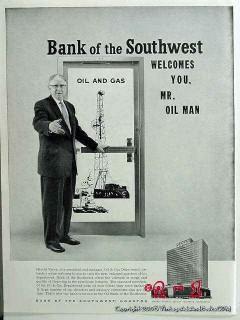 bank of the southwest 1959 gas oil houston harold vance vintage ad