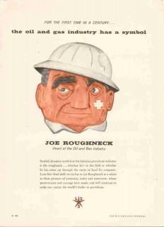 Lone Star Steel Company 1959 Vintage Ad Oil Field Pipe Joe Roughneck