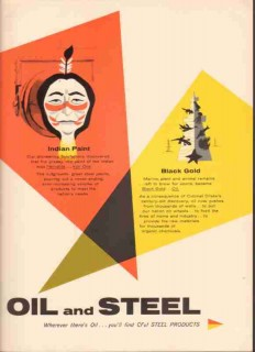 Colorado Fuel Iron Corp 1959 Vintage Ad Oil Steel Indian Black Gold
