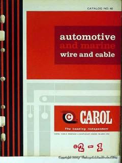 carol cable company 1965 automotive marine wire vintage catalog