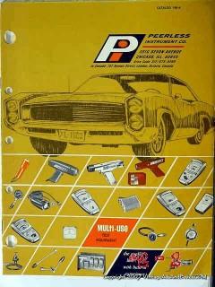 peerless instrument company 1966 car test equipment vintage catalog