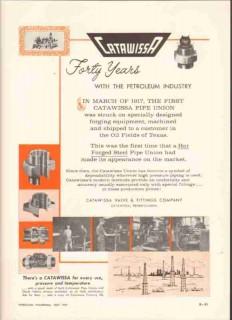 Catawissa Valve Fittings Company 1959 Vintage Ad Petroleum Industry 40