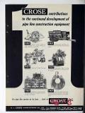 M J Crose Mfg Company 1951 Vintage Ad Pipe Line Construction Equipment