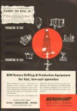 Beaumont Iron Works Company 1951 Vintage Ad Oil Gas Rotary Drilling