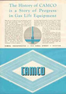 Camco Inc 1951 Vintage Ad Oil Gas Lift Equipment Petroleum Drilling