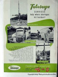 Tuboscope Company 1951 Vintage Ad Oil Services Shortages Hit Hardest