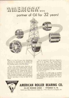 American Roller Bearing 1951 Vintage Ad Oil Edward Maltby Company