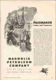 Magnolia Petroleum Company 1951 Vintage Ad Oil Well Drilling Pacemaker